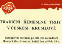 Tradiční řemeslné trhy v Českém Krumlově