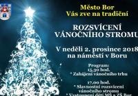 Rozsvícení vánočního stromu - Bor