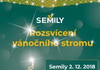 Rozsvícení vánočního stromu - Semily