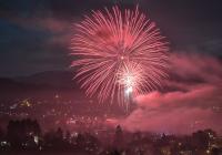 Novoroční ohňostroj - Vizovice