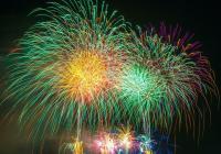 Silvestrovský a novoroční ohňostroj v Poděbradech