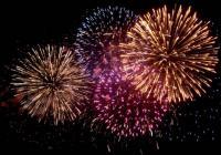 Novoroční ohňostroj - Slaný