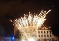 Novoroční ohňostroj - Kostelec nad Orlicí