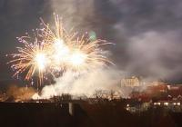 Novoroční ohňostroj - Protivín