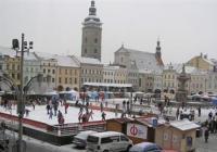 Vánoční ledové kluziště na náměstí - České Budějovice