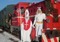 Jízda mikulášským vlakem po historické železnici do Kovohutí