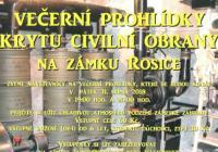 Večerní prohlídka krytu civilní obrany - Zámek Rosice