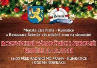 Rozsvícení vánočního stromu - Praha Kunratice