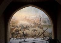 Přednáška k restaurování dioramatického obrazu na Petříně