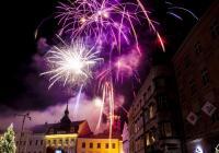 Novoroční ohňostroj - Jindřichův Hradec