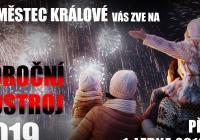 Novoroční ohňostroj - Městec Králové