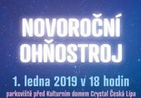 Novoroční ohňostroj - Česká Lípa
