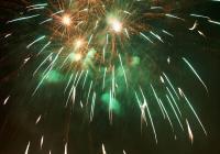 Novoroční ohňostroj - Vimperk