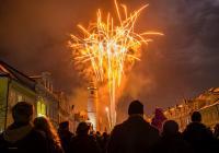 Novoroční ohňostroj - Domažlice