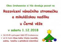 Rozsvícení vánočního stromečku s Mikulášem - Černá věž v Drahanovicích