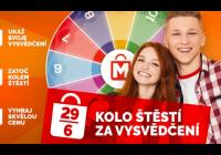 Kolo štěstí za vysvědčení - Mercury centrum České Budějovice