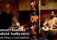 Koncert klasické indické hudby. R. Pophali tabla & E. Kubičková esrádž