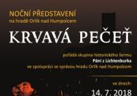 Noční prohlídky - Hrad Orlík nad Humpolcem