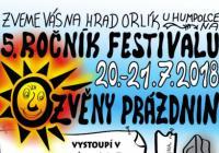 Folkový festival Ozvěny prázdnin - Hrad Orlík nad Humpolcem