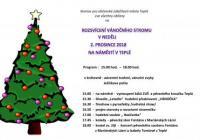 Rozsvícení vánočního stromu - Teplá