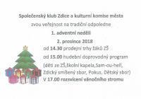 Rozsvícení vánočního stromu - Zdice