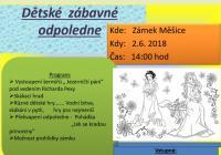 Dětské zábavné odpoledne - Barokní zámek Tábor Měšice