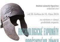 Archeologické exponáty opočenského zámku - výstava