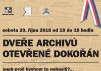 Den otevřených dveří - Národní archiv a Státní oblastní archiv v Praze