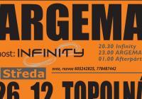 Argema - Vánoční koncert+host Infinity Topolná