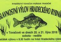 Slavnostní výlov Hradeckého rybníka v Tovačově