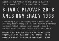 Bitva o pivovar Kolčavka - Praha