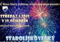 Novoroční ohňostroj - Brno Starý Lískovec