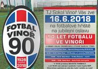 Oslava fotbalu ve Vinoři Praha