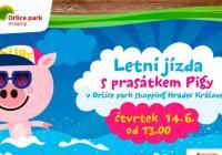 Letní jízda s prasátkem Pigy - Orlice Park Hradec Králové