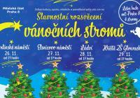Rozsvícení vánočního stromu - Glowackého Praha