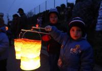 Lampionový průvod z Podhoří do Louk - Zlín