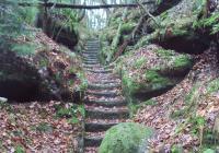 Pekelské schody a kamenné schody