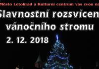 Rozsvícení vánočního stromu - Letohrad