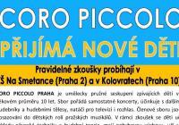 Coro Piccolo Praha přijímá nové děti