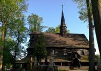 Dřevěný hřbitovní kostel Panny Marie