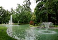 Jezírko v lázeňském parku, Františkovy Lázně