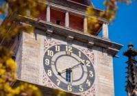Svítání na Bílé věži v Hradci Králové