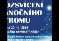 Rozsvícení vánočního stromu - Polička