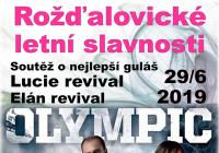 Rožďalovické letní slavnosti: Olympic Lucie revival, Elán revival