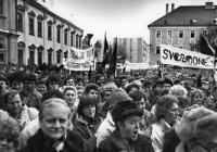 Sametová revoluce v Uherském Hradišti