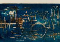 Vladimír Boudník / Aktivní grafika (Horizontály a vertikály, Stopy materiálu), 1959-1966