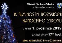Rozsvícení vánočního stromu - Brno Židenice