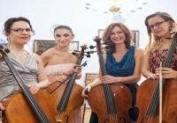 4 violoncellistky na vyhlídce - Praha