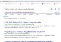 Výzkumné sondy k dějinám ukrajinské kultury