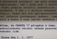 Charta 77 – Tři generace opozice, reflexe totality